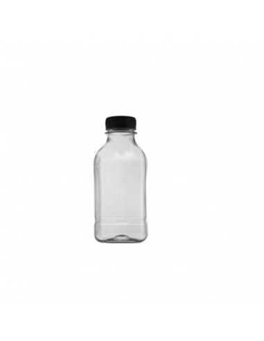 Botella RPET cuadrada transparente...