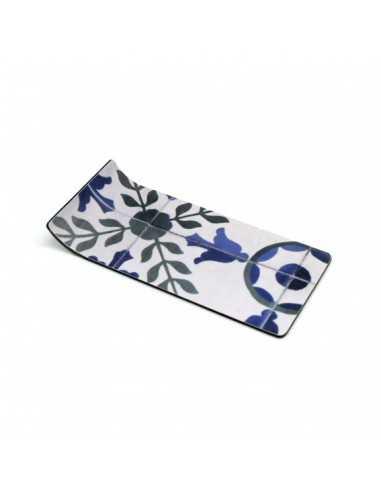 Bandeja ligera para amenities en azulejo azul floral