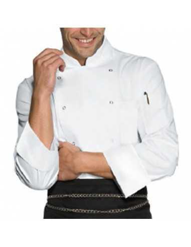 Chaqueta de cocina blanca unisex...