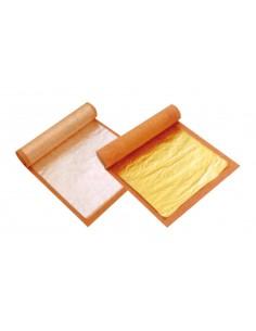 Láminas de oro comestibles 24 K 6,5 x 6,5 cm  (25 Uds) Precio 3,52€/Ud