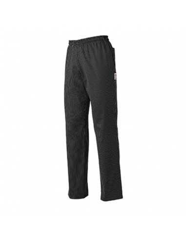 Pantalón de cocina unisex Sir negro con rayas blancas