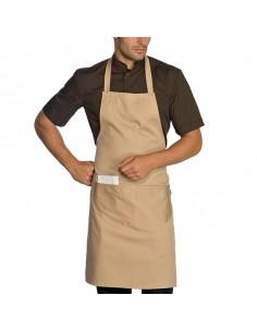 Delantal peto de cocina unisex con bolsillo Biscotto 90x70 cm. Talla única (2 Ud) Precio 15,51€/Ud