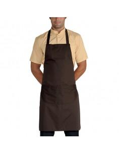 Delantal peto de cocina unisex con bolsillo Cacao 90x70 cm. Talla única (2 Ud) Precio 15,51€/Ud