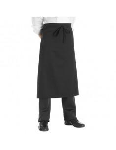 Delantal de cocina francés negro