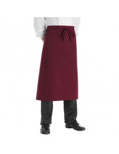 Delantal de cocina francés burdeos 90x100 cm (2 Uds) Precio 16,7€/Ud