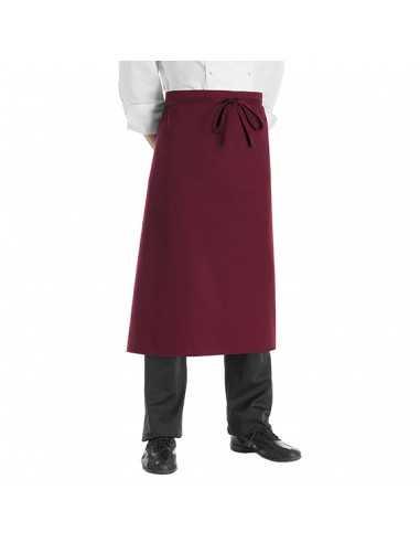 Delantal de cocina francés burdeos...