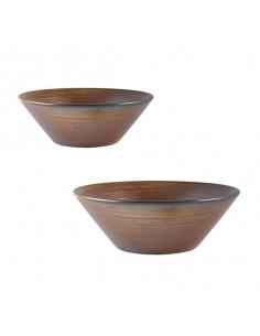 Bowl cónico porcelana Terra cobre rústico