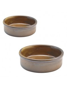Plato tapas de porcelana cobre rústico