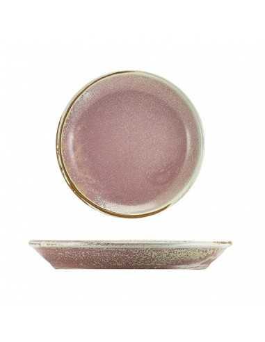 Plato llano de porcelana en color rosa del despiece de la vajilla Terra para restaurantes