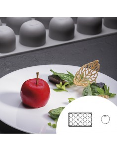 Molde de silicona en forma de manzana gala 30x17,5 cm 15 cavidades (1 Ud)