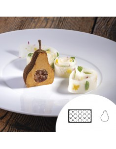 Molde de silicona en forma de pera para hostelería