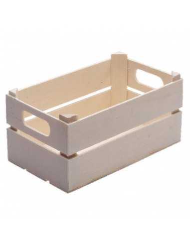 Caja de madera mini para fruta 15 x 9...