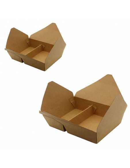 Envase de cartón con compartimentos de 2 litros