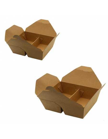 Envase de cartón con compartimentos de 1 litro