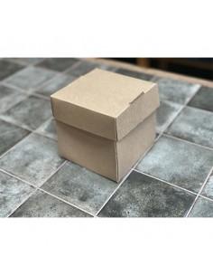 Caja flor para hamburguesa cartón kraft parafinado 12x12 cm (1000 Uds)