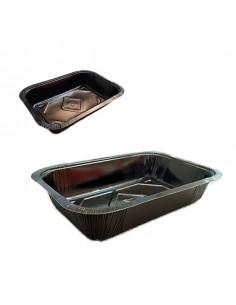 Moldes de horneado celulosa + PET negros 21,2x14,2x4 cm 760 ml (400 Uds)