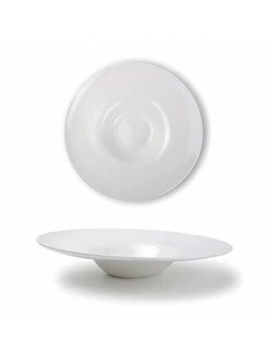 Plato degustación de líneas irregulares colección Perla fabricada en siloxiht