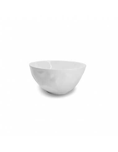 Bowl con textura en color blanco fabricado en siloxiht