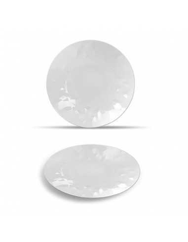 Plato hondo con textura blanco de la colección Facet