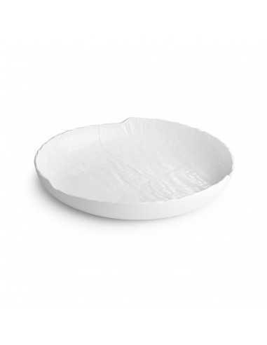 Plato hondo de porcelana colección Livelli en blanco