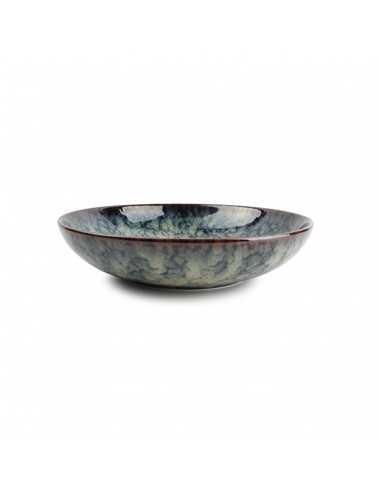 Ensaladera de porcelana colección Hazy Azul para hostelería