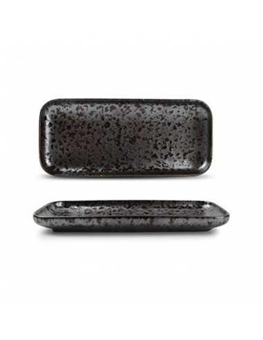 Fuente rectangular de porcelana con garantia de desportillamiento Oxido Black