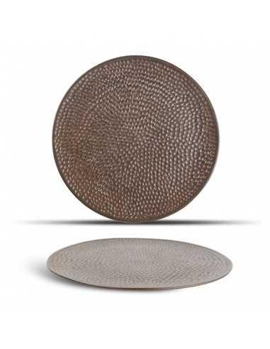 Plato llano porcelana Brass cobre ø27 cm