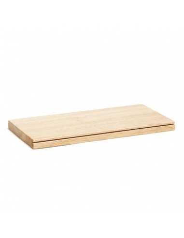 Bandeja de madera roble para soporte brochetas y conos