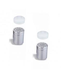 Especiero acero inox agujero grueso tapa plástico ø7x9,6 cm (1 Ud)