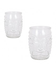 Vaso de cristal transparente Tiki ø8x11 cm 50 cl (24 Uds)
