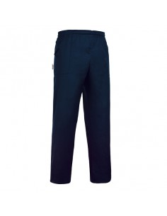 Pantalon unisex azul marino con goma y 2 bolsillos - Talla XS (1 Ud)