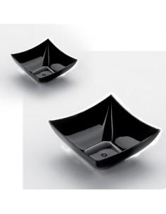 Mini copa cuadrada desechable negra 7 x7 cm. 90 ml (500 Uds)