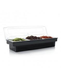 Organizador de alimentos con tapa 50x16x9 cm. Varias capacidades (1 Ud)