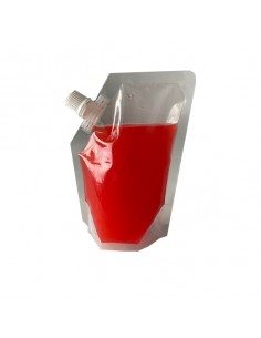 Bolsa de plástico transparente con tapón 250 ml (500 Uds)