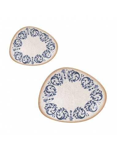 Plato postre irregular porcelana Laudum 24x19,5 cm