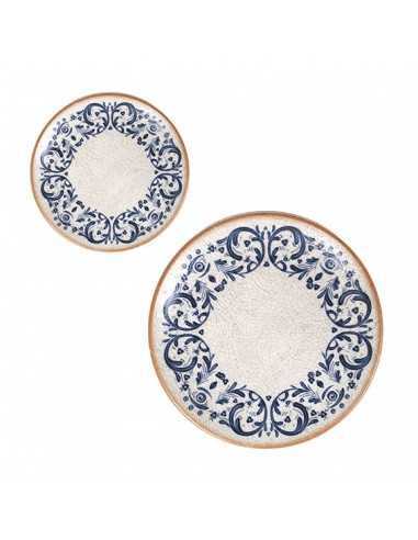 Plato postre porcelana Laudum 21x2,2 cm