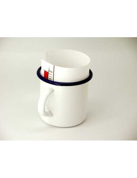 Taza vintage blanca acero vitrificado 0,4 L (12 Uds) Precio unitario 3,19€
