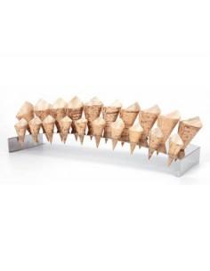 Soporte inox para 30 conos 60 x 15 x 8 cm ø2 cm (1 Ud) Precio 71,27€