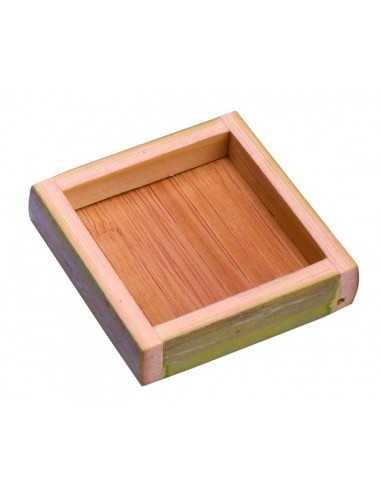 Mini plato cuadrado bambú 5,5 x 5,5 cm (10 Uds) Precio unitario 1,16€