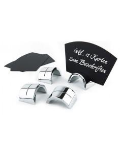 Porta cartelitos inox 4 x 2,5 cm (1 Ud) Precio 14,73€