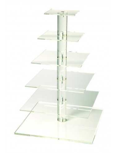 Soporte multiusos transparente 6 pisos