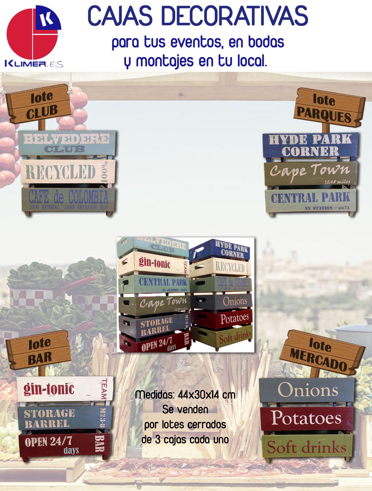 Cajas decorativas para tus eventos tematizados