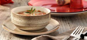 Receta ajoblanco en bowl de porcelana irrompible