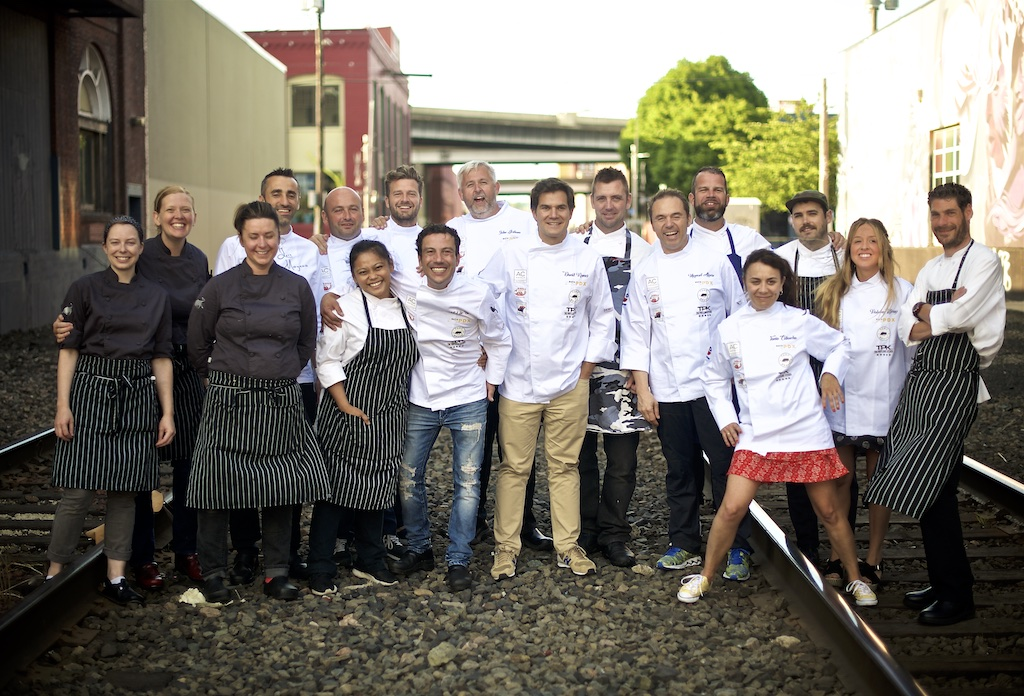 David Ramos y el equipo español de la Ruta PDX