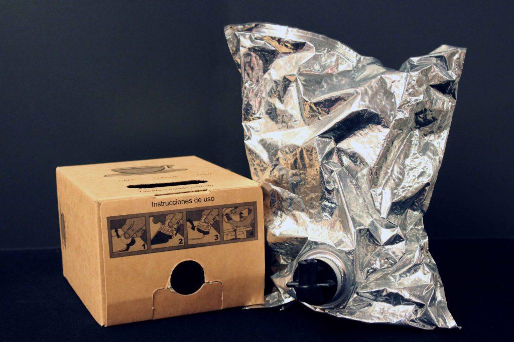 Caja bag in box y bolsa termo para eventos