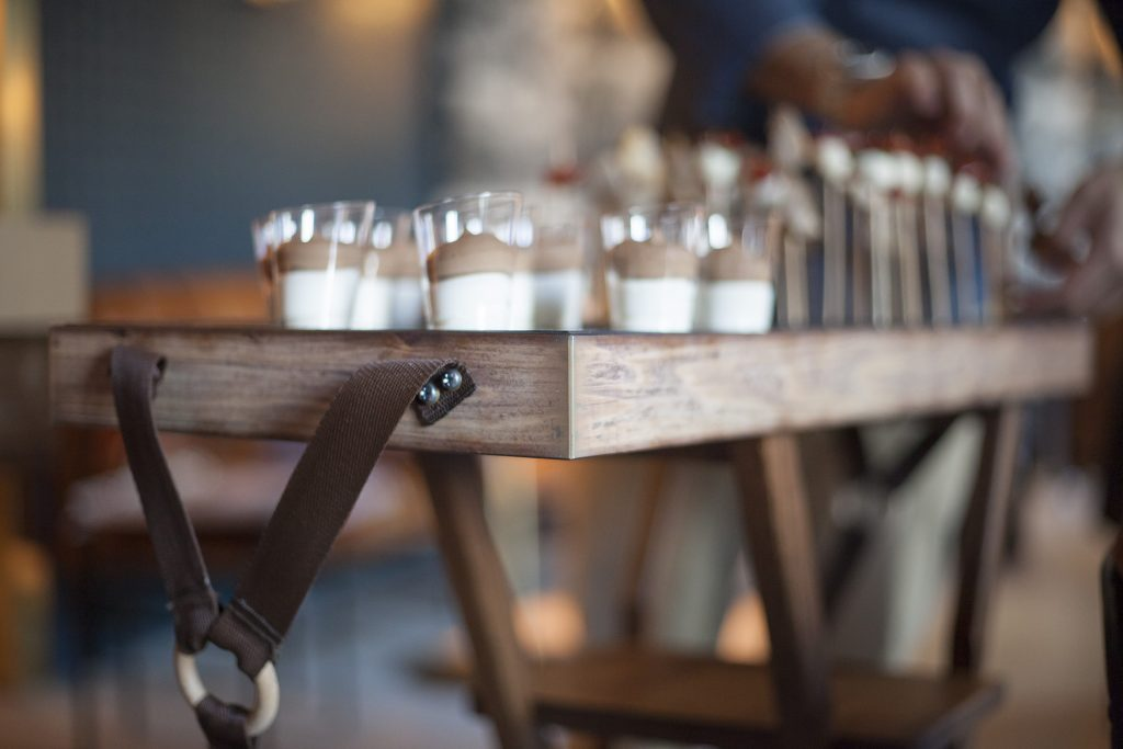 Bandeja multiusos vintage para vasos