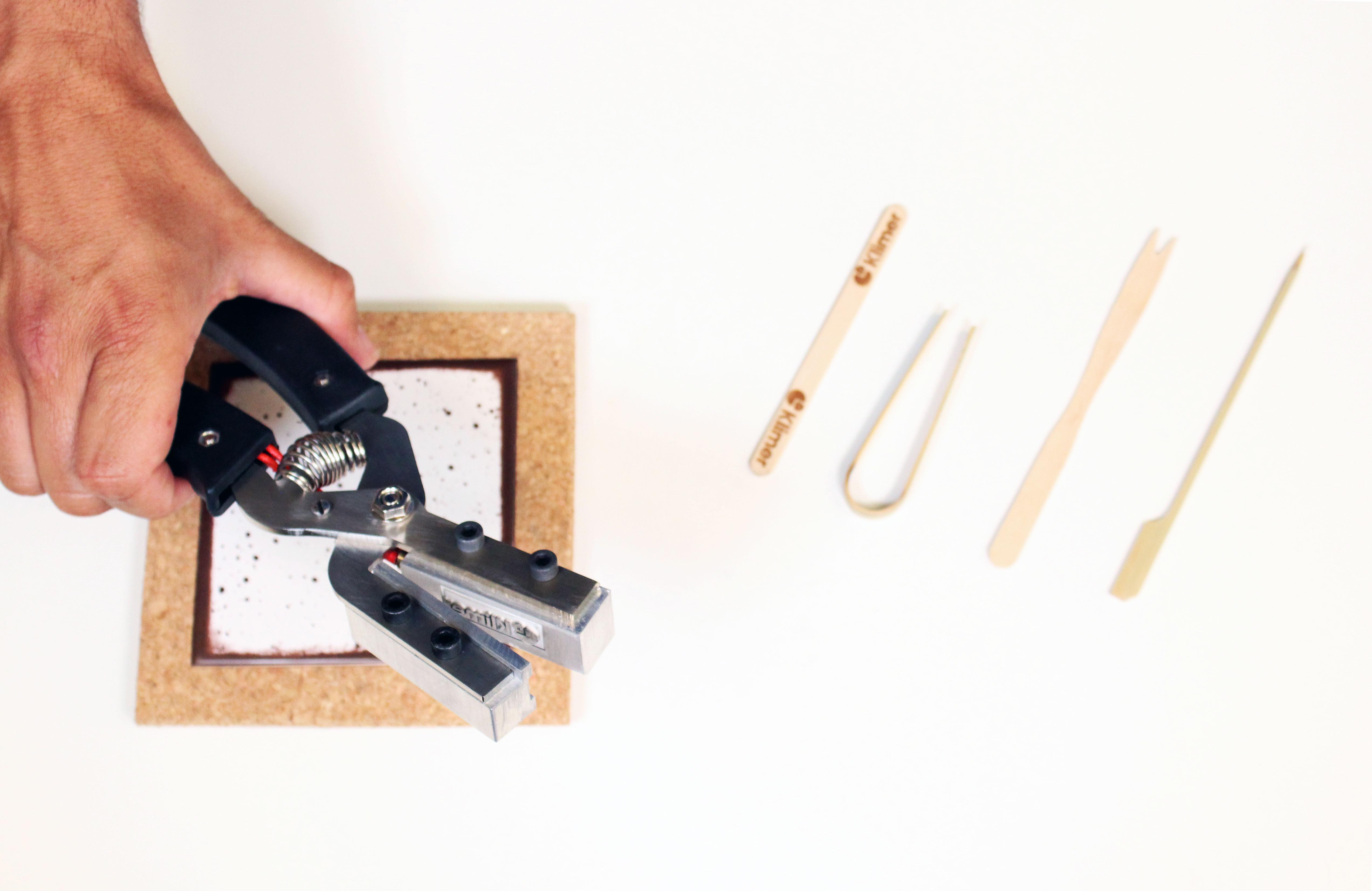 Marcador de pinza eléctrico manual para brochetas personalizado