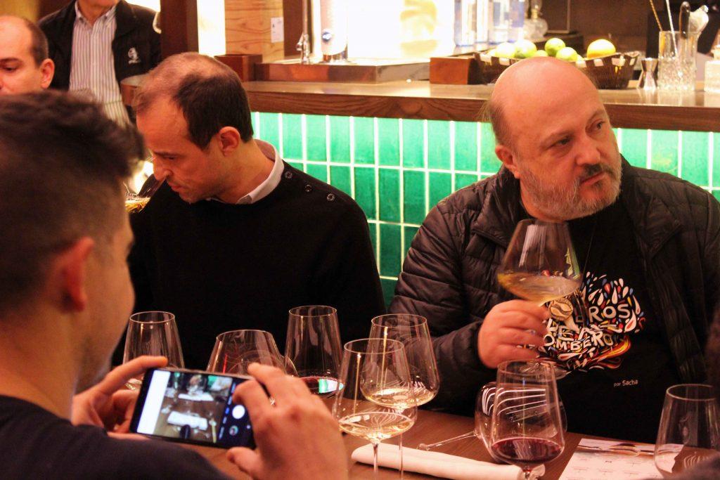 Sommelier de Diverxo y Sanchón en la presentación de Zalto