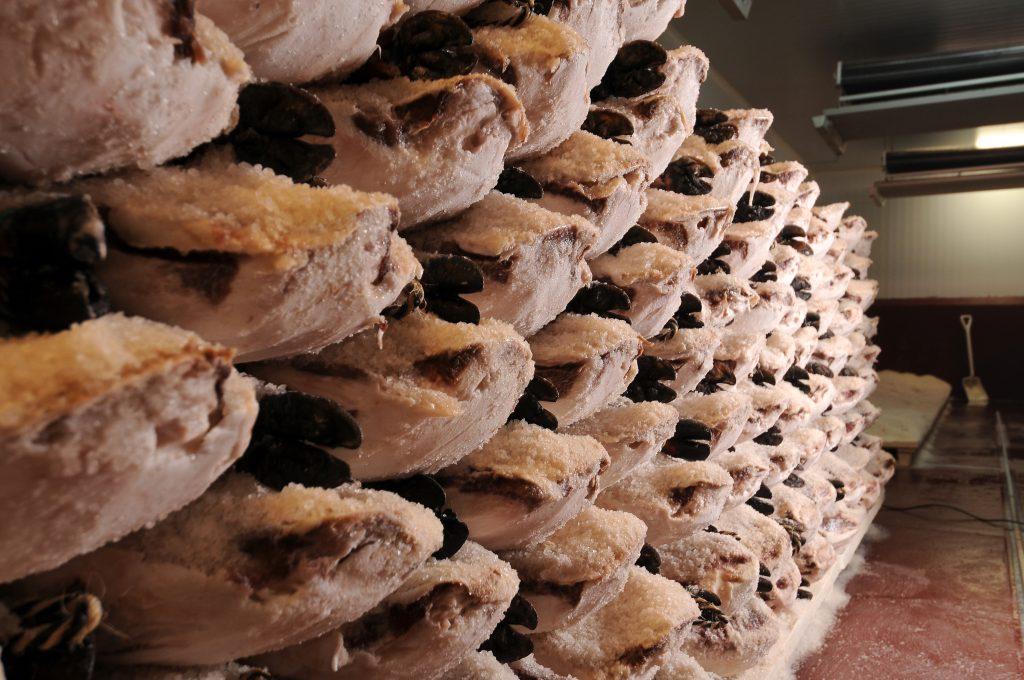 Proceso de salazón de los jamones ibéricos de Carrasco Guijuelo