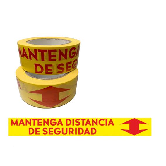 "Rollo adhesivo marcaje ""Mantenga distancia de seguridad"""